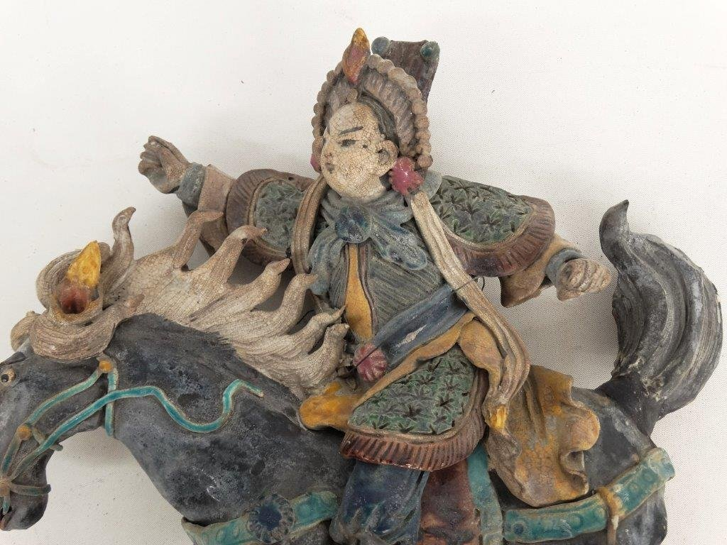 Chinese Pottery Figure On Horseback - 2