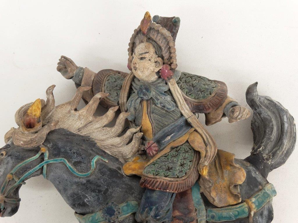 Chinese Pottery Figure On Horseback - 2