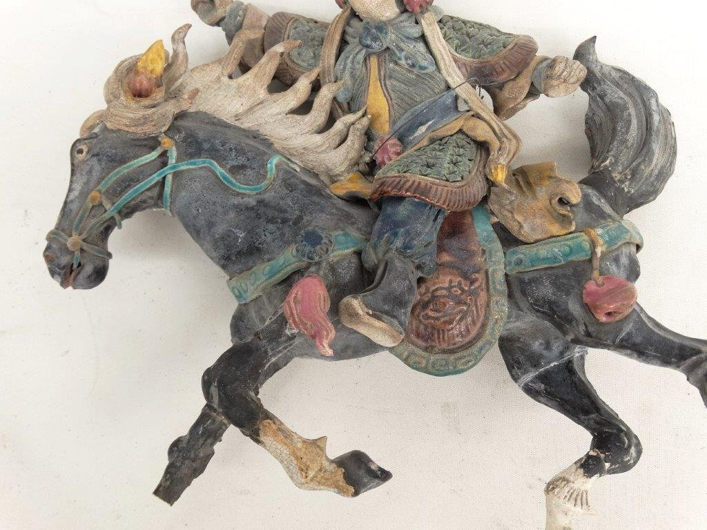 Chinese Pottery Figure On Horseback - 3