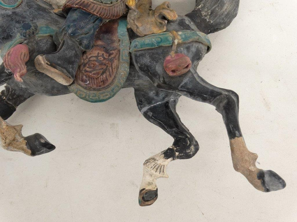 Chinese Pottery Figure On Horseback - 4