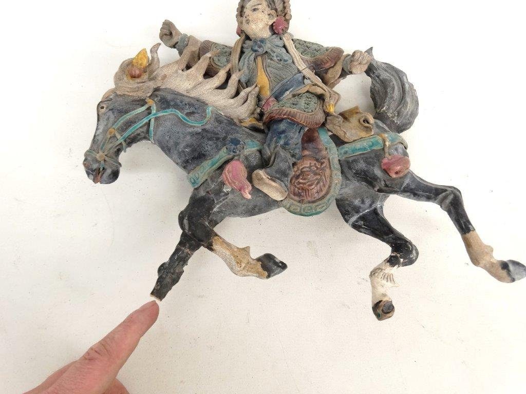 Chinese Pottery Figure On Horseback - 5