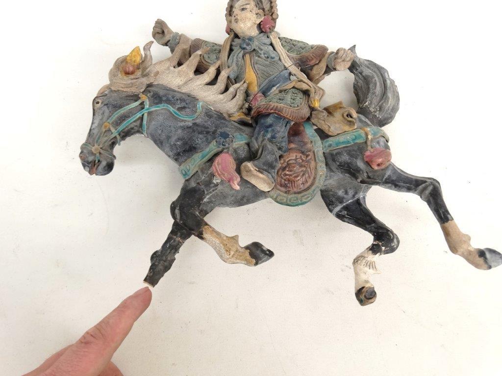 Chinese Pottery Figure On Horseback - 5