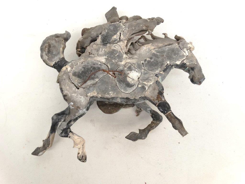 Chinese Pottery Figure On Horseback - 6