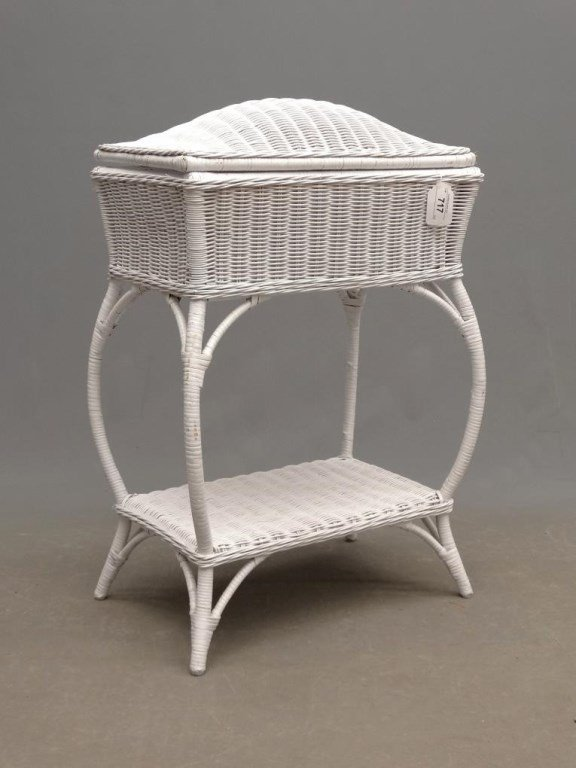 Wicker Sewing Table