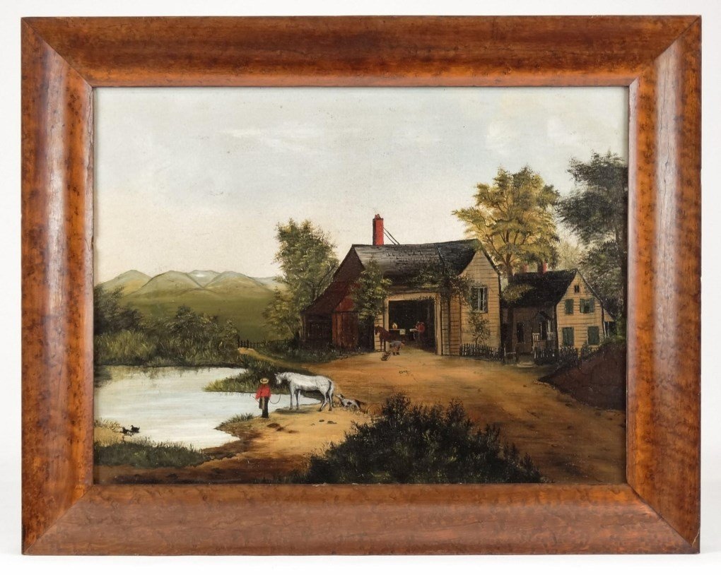 American School, Landscape With Homestead