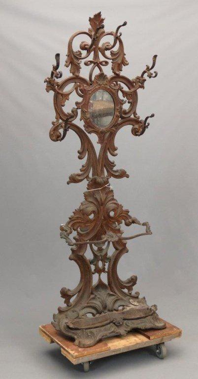 Victorian Cast Iron Hall Mirror