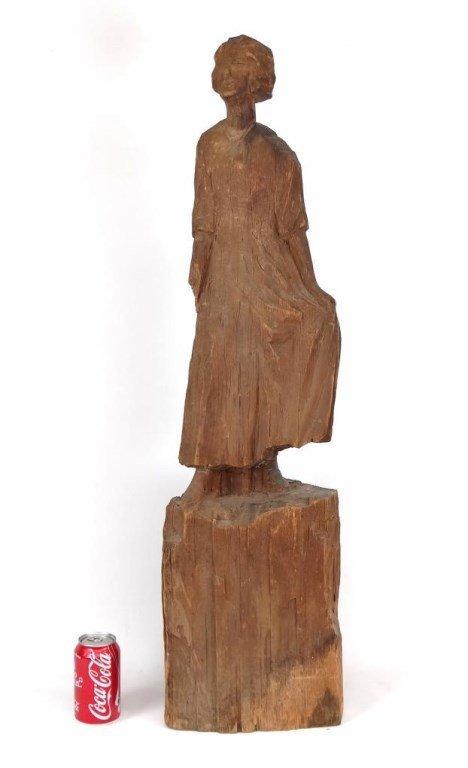 Folk Art Wooden Sculpture