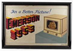 Emerson Television Original Illustration Ad