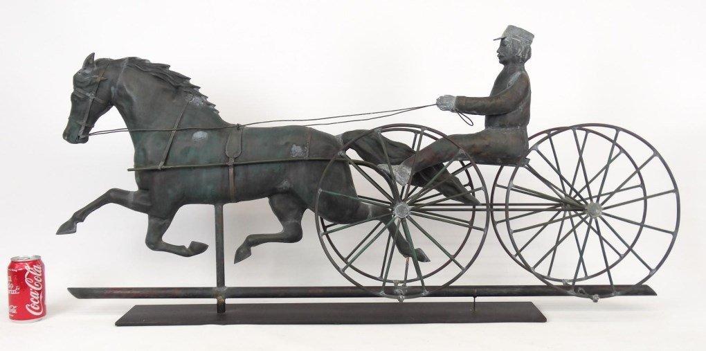 Horse And Sulky Weathervane