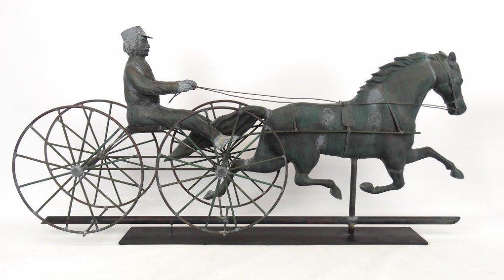 Horse And Sulky Weathervane - 6
