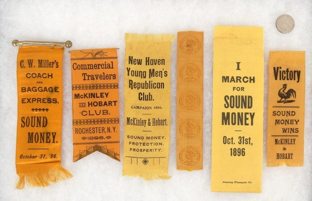 McKinley & Hobart Campaign Ribbons