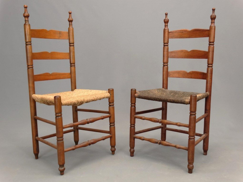 Set of (6) 18th c. Demarest N.J. Chairs - 2