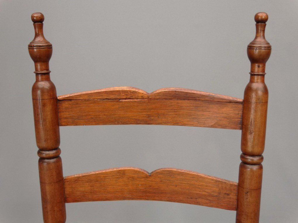 Set of (6) 18th c. Demarest N.J. Chairs - 3