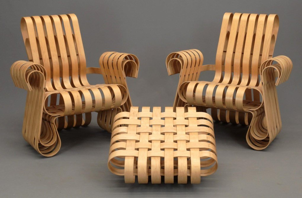 """Frank Gehry For Knoll """"Power Play"""" Chairs"""