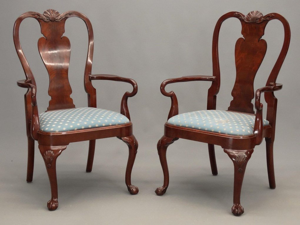 Set of (8) Queen Anne Style Chairs - 10