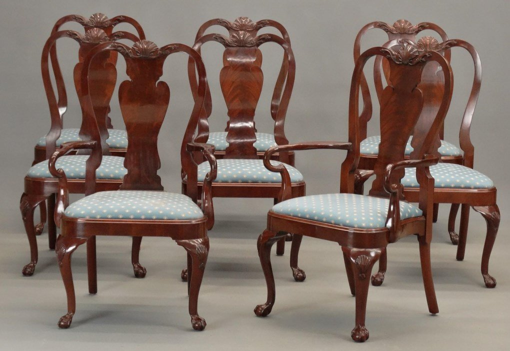 Set of (8) Queen Anne Style Chairs