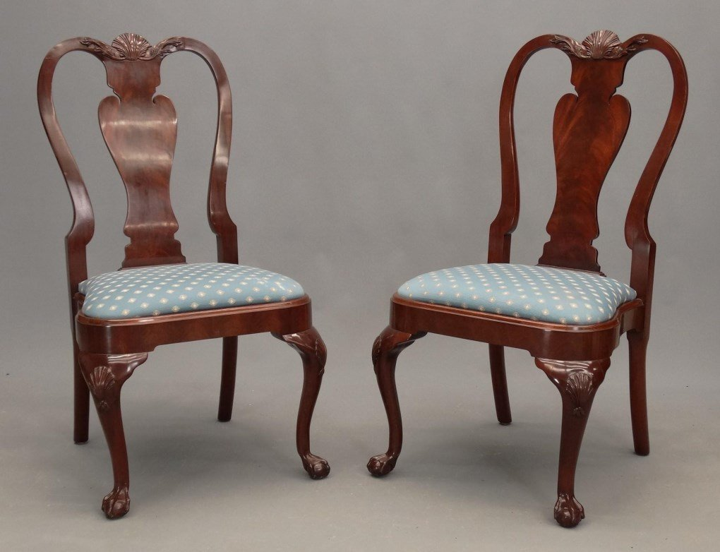 Set of (8) Queen Anne Style Chairs - 2
