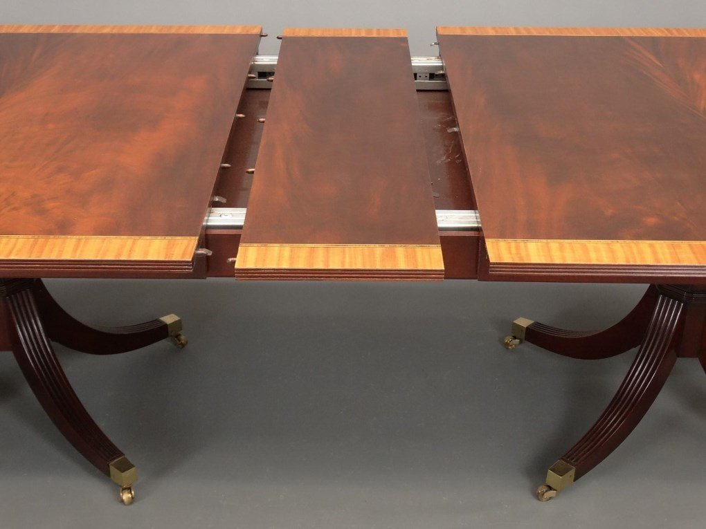 Mahogany Double Pedestel Dining Table - 10