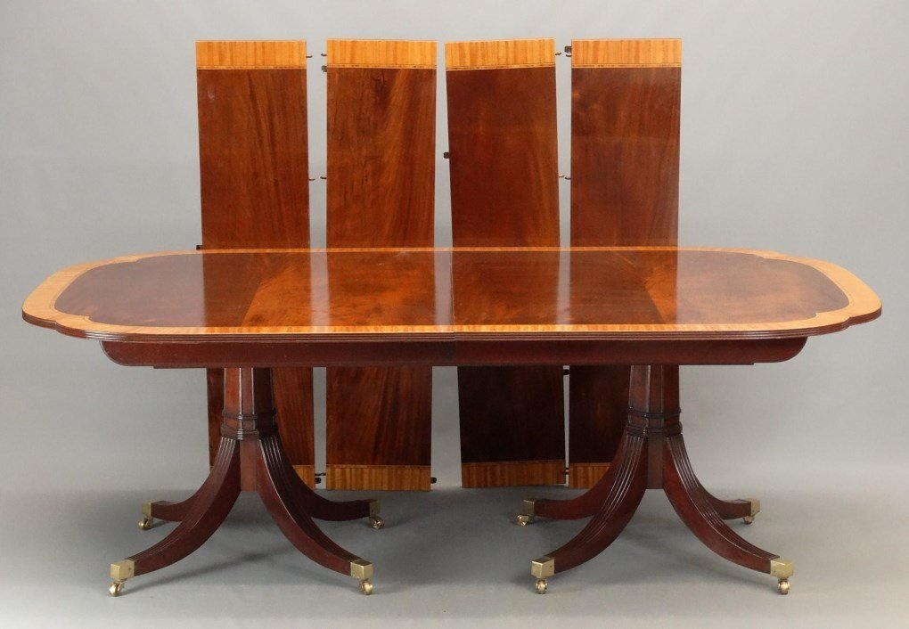 Mahogany Double Pedestel Dining Table - 2