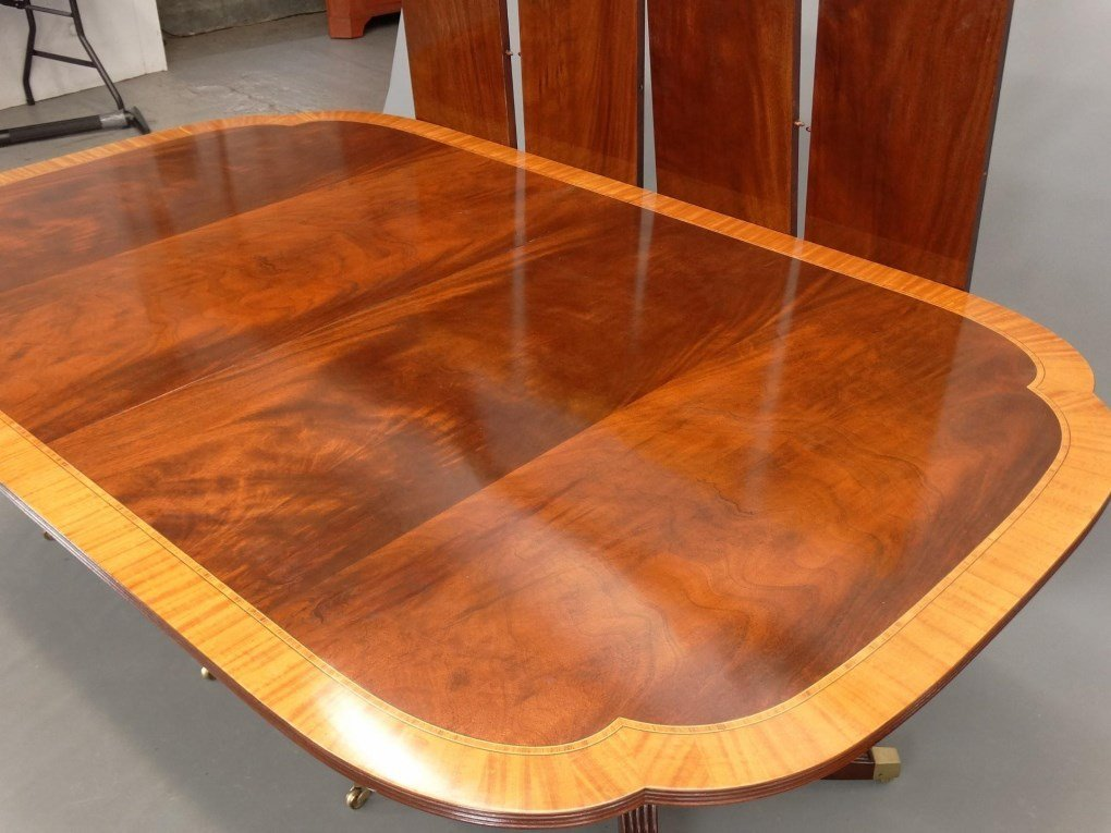 Mahogany Double Pedestel Dining Table - 3