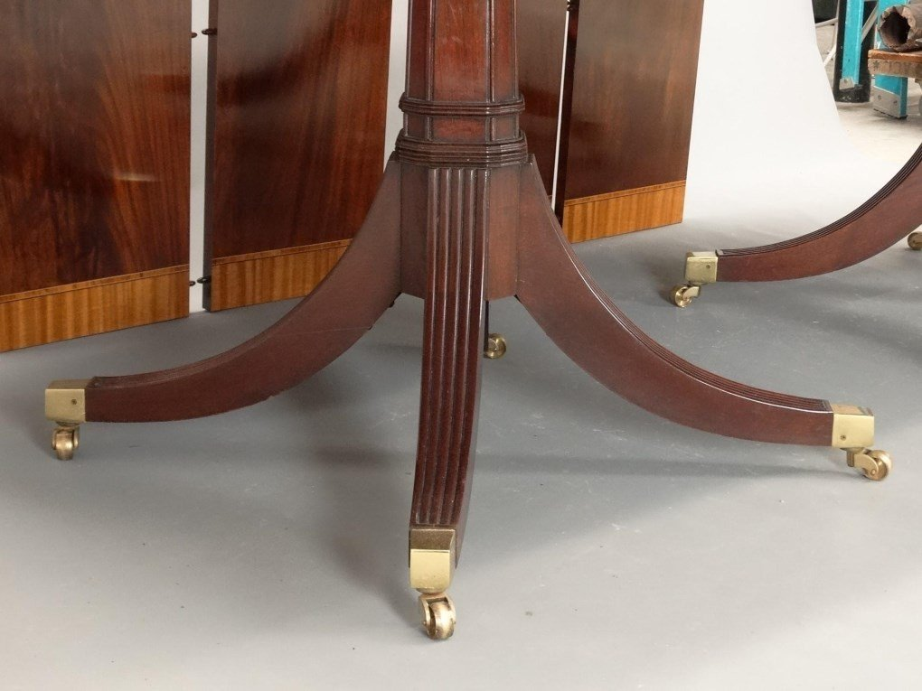 Mahogany Double Pedestel Dining Table - 5