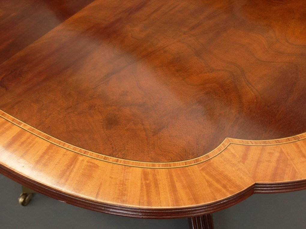 Mahogany Double Pedestel Dining Table - 7
