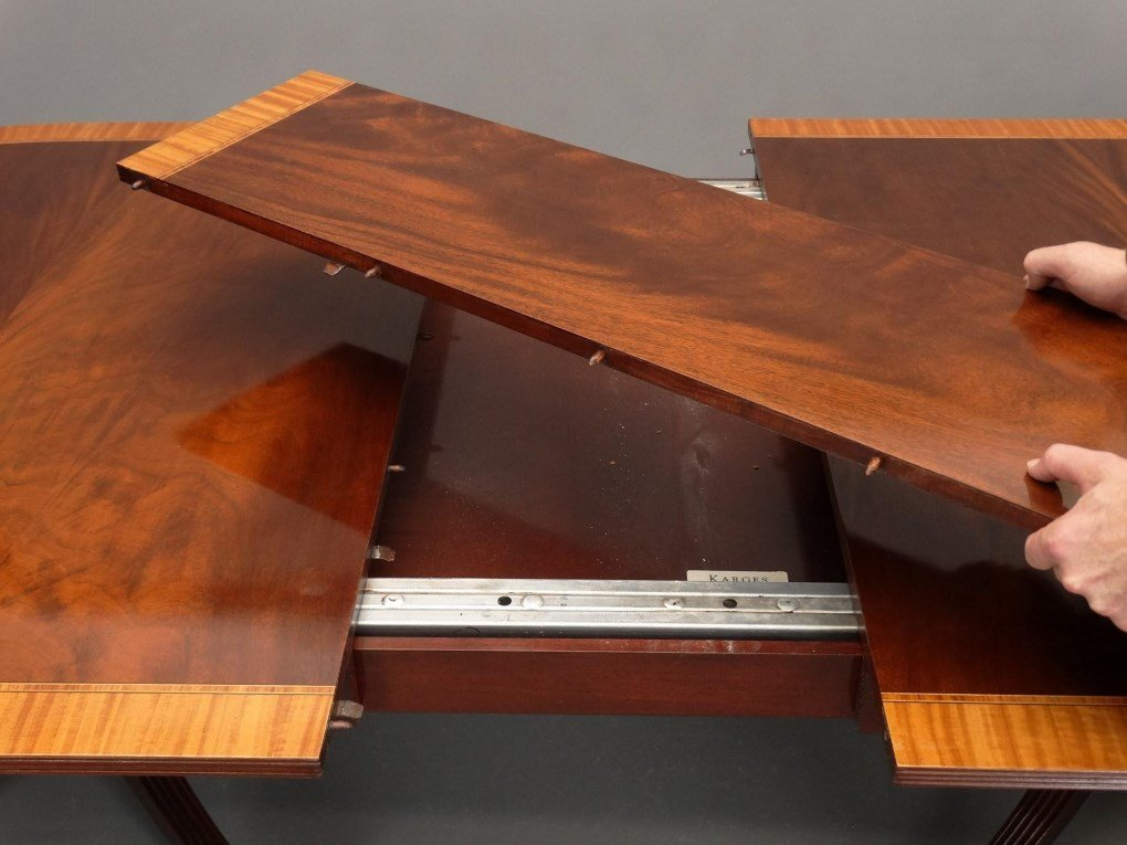 Mahogany Double Pedestel Dining Table - 9