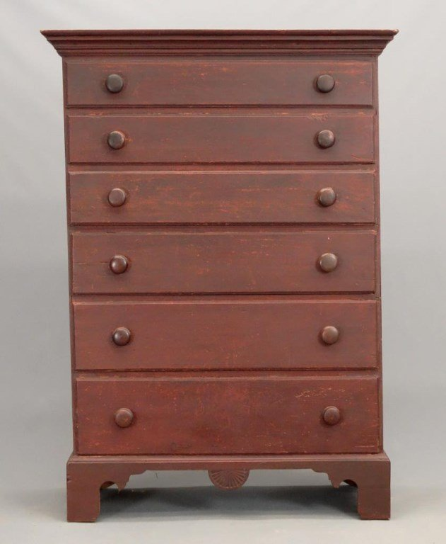 18th c. New Hampshire Tall Chest