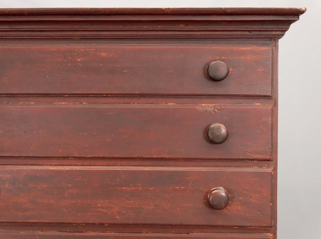 18th c. New Hampshire Tall Chest - 2