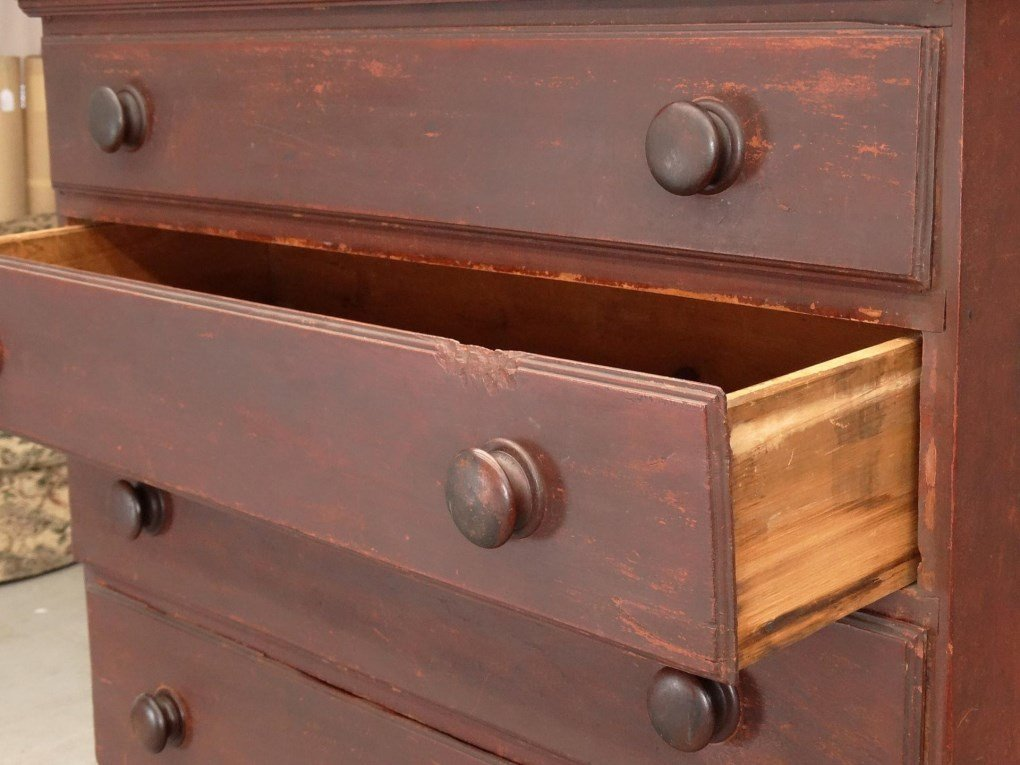 18th c. New Hampshire Tall Chest - 4