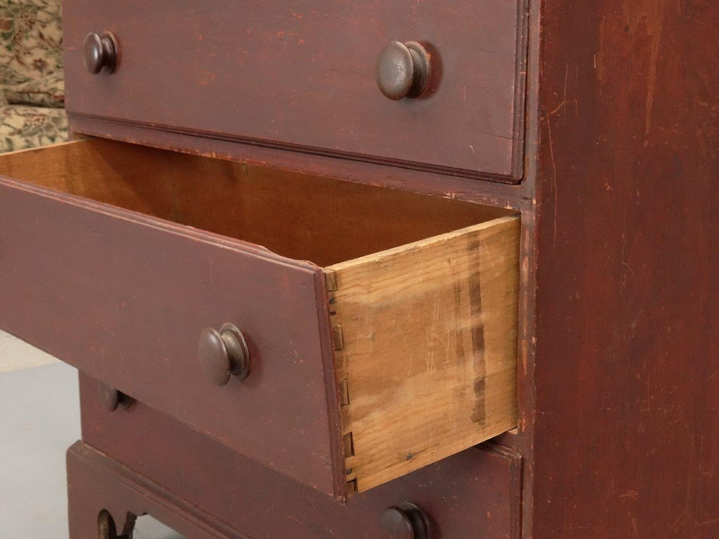 18th c. New Hampshire Tall Chest - 6