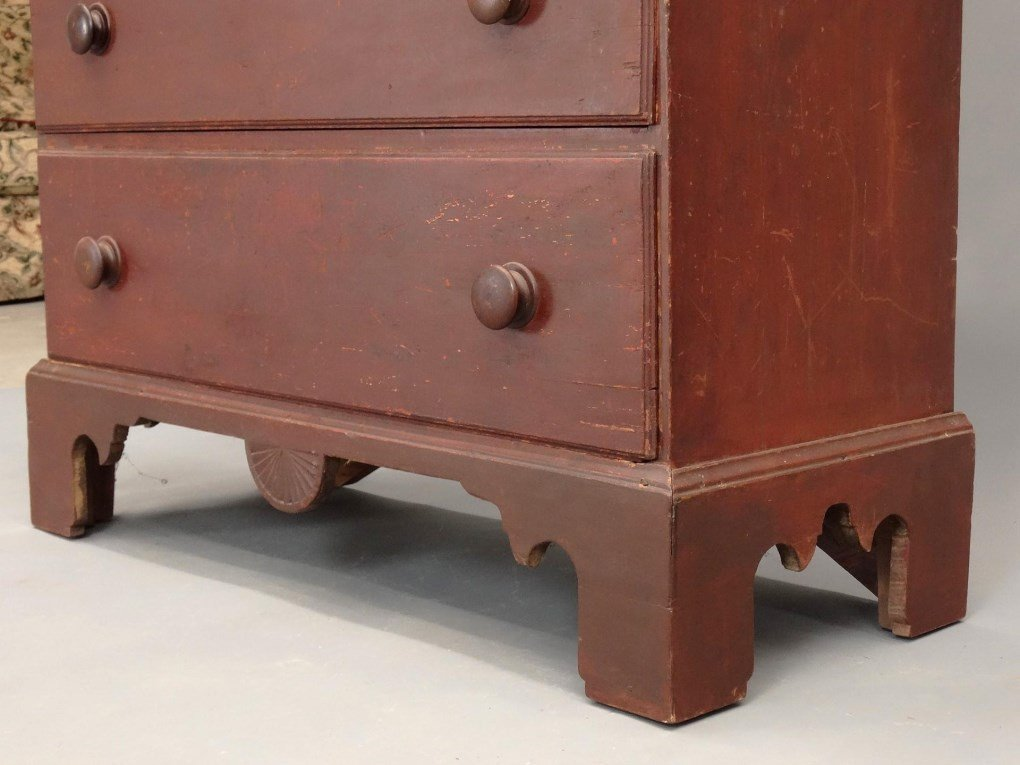 18th c. New Hampshire Tall Chest - 7