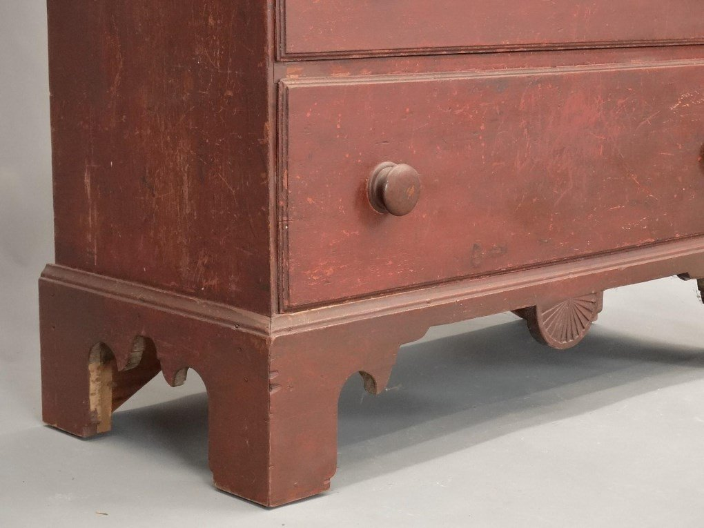18th c. New Hampshire Tall Chest - 9