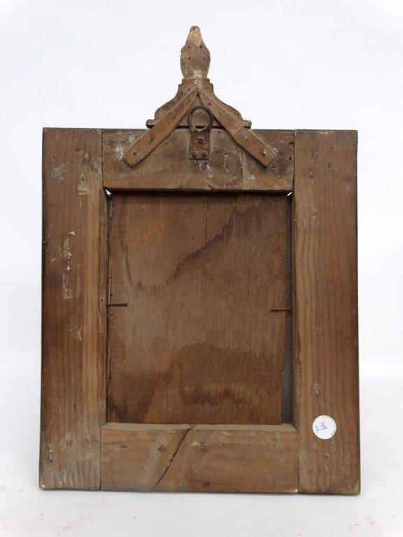 Pair 19th c. Folk Art Frames - 10