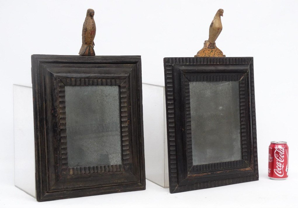 Pair 19th c. Folk Art Frames