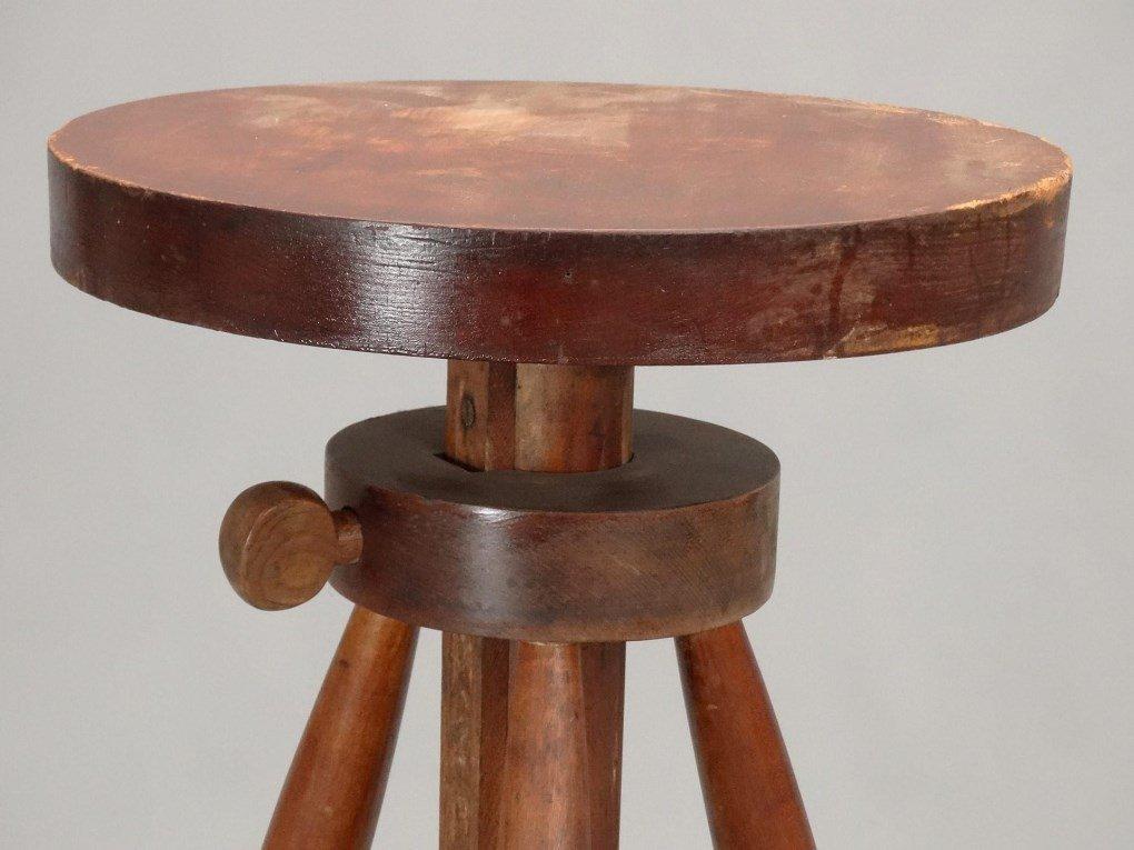 19th c. Shaker Work Stool - 3