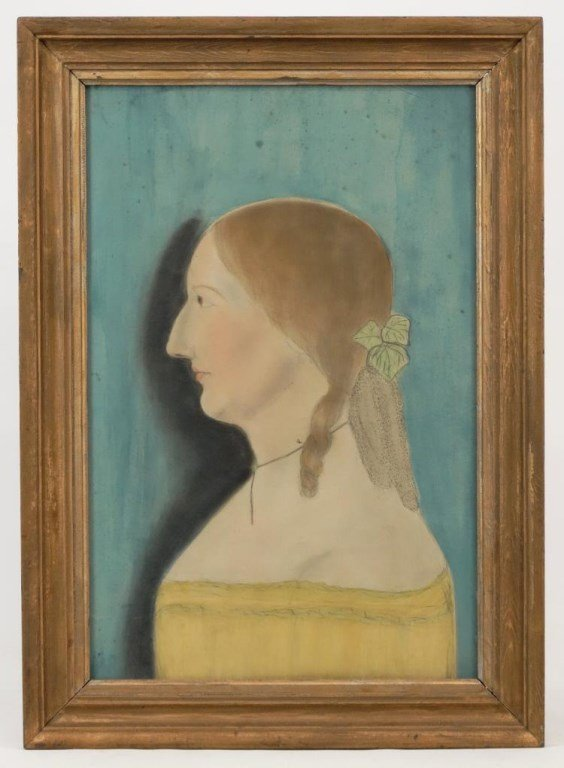 19th c. Portrait Of A Woman