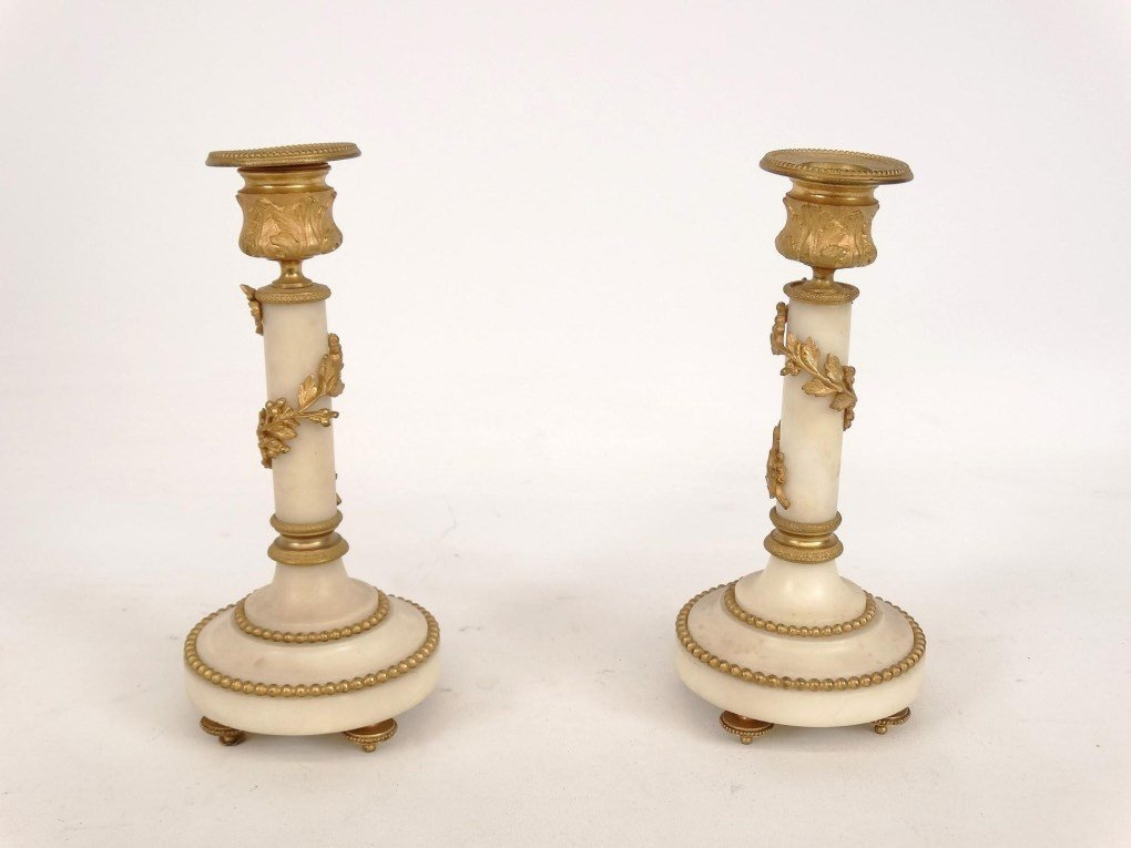 French Onyx Clock Set - 8