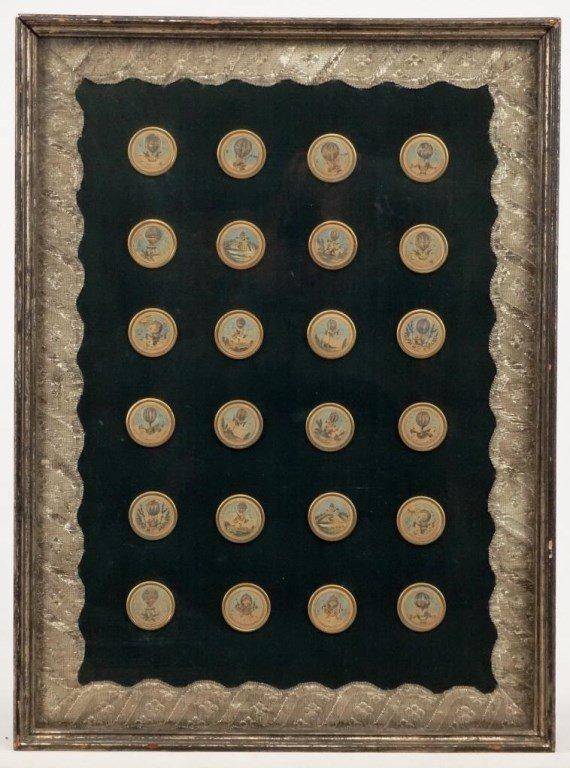Ballooning History Framed Medallions