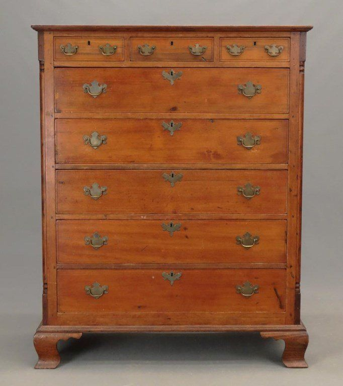18th c. Chippendale Tall Chest