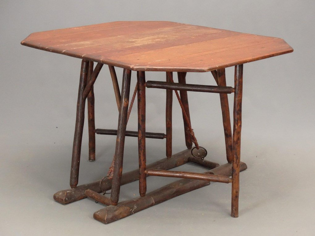 Old Hickory Dropleaf Table - 2