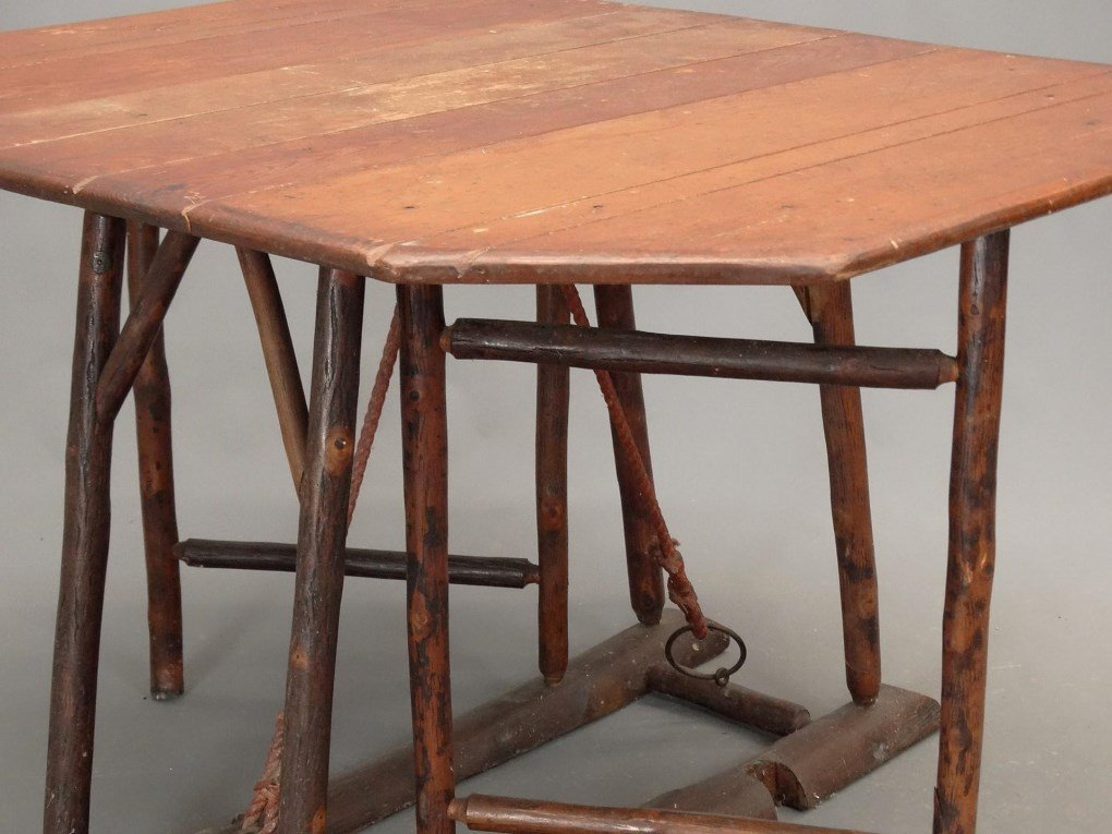 Old Hickory Dropleaf Table - 4