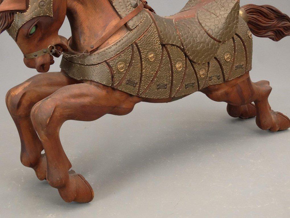 Pair Wooden Horse Figures - 4