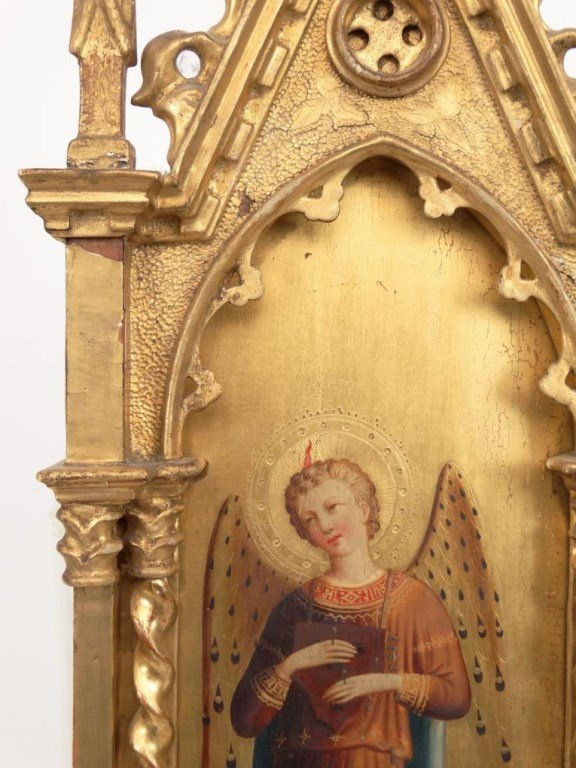 Italian Religious Icon With Carved Frame - 3