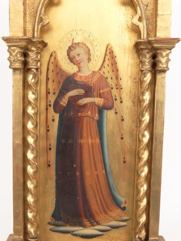 Italian Religious Icon With Carved Frame - 4