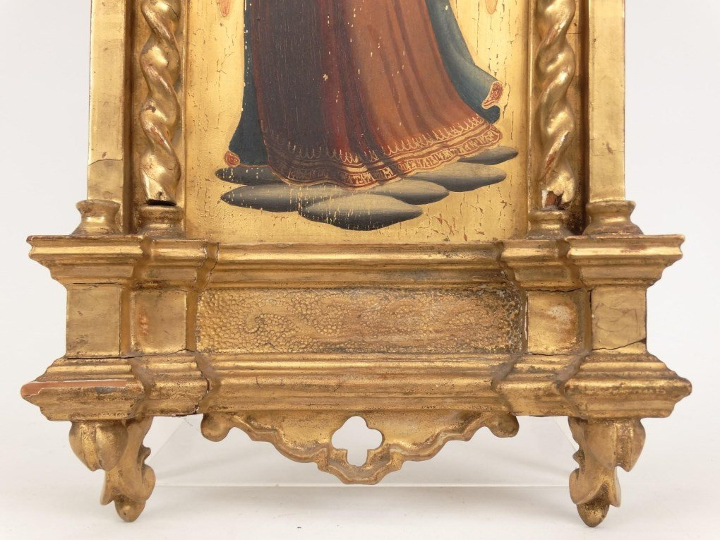 Italian Religious Icon With Carved Frame - 6