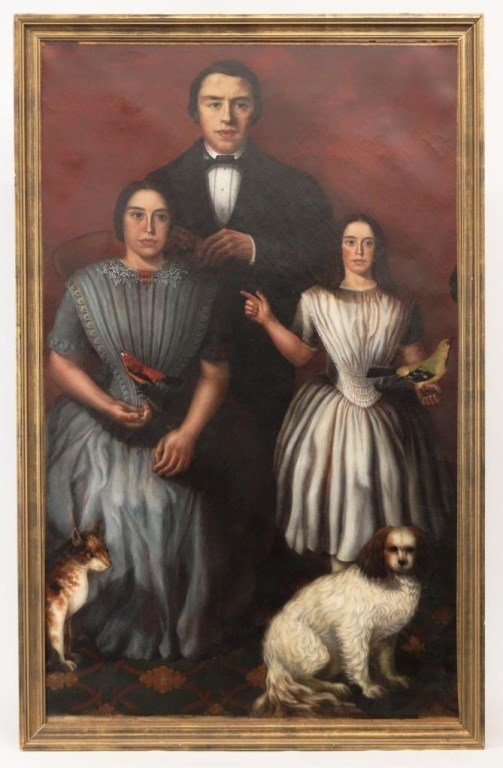 19th c. Mexican Ancestral Portrait