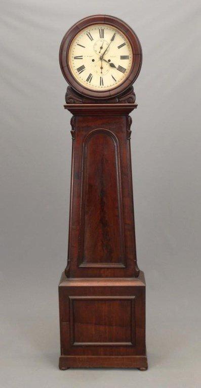 19th c. Scottish Drum Head Grandfather Clock
