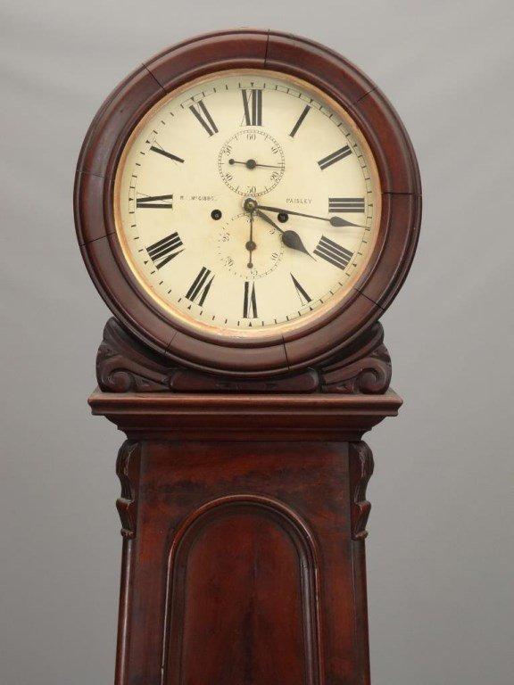 19th c. Scottish Drum Head Grandfather Clock - 2