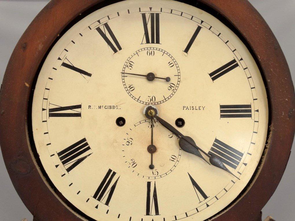 19th c. Scottish Drum Head Grandfather Clock - 3